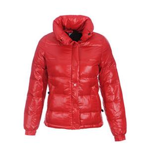 Mulheres Moncler Básico Clairy Curto Down Jacket Red DG6377 [2ece]